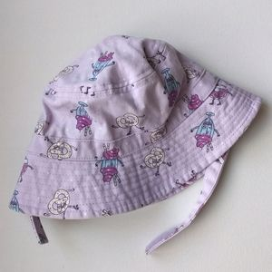 Purple Summer Bucket Hat Baby Girl * 12-24M
